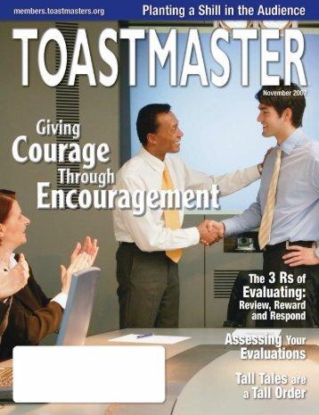 November 2007 - District 25 Toastmasters