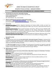 Téléchargez l'annexe technique - Réseau Rural Français