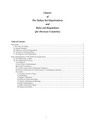 Charter of The Sathya Sai Organisations and Rules and Regulations ...