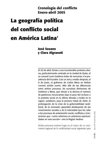La geografía política del conflicto social en América Latina