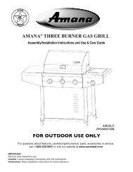 amana® three burner gas grill - Sure Heat Manufacturing