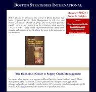 Optimal SCM in Oil Gas and Power Generation - Boston Strategies ...