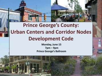Urban Centers And Corridor Nodes - Prince George's County ...