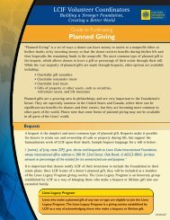 Guide to Fundraising: Planned Giving - LCIF
