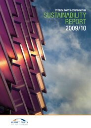 Sustainability Report 2009/2010 - Sydney Ports