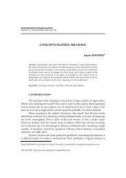 conceptualizing meaning - Societatea Română de Filosofie Analitică