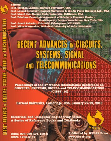 RECENT ADVANCES in CIRCUITS, SYSTEMS, SIGNAL ... - Wseas.us