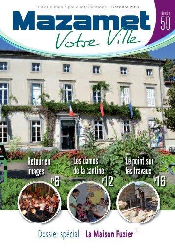 Téléchargez le bulletin municipal de Octobre 2011. - Mazamet