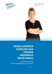 Rapport Mogelijkheden overstap van primair onderwijs naar v(mb)o