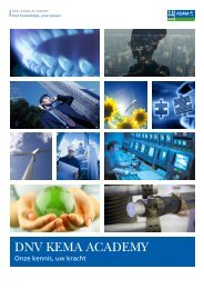 DNV KEMA Academy Brochure