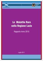 Le Malattie Rare nella Regione Lazio - Agenzia di Sanità Pubblica ...