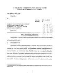 1108 Ariola v. Chris Jones(PDF) - Pensacola Beach Tax Suit