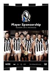 Player Sponsorship - Collingwood Football Club