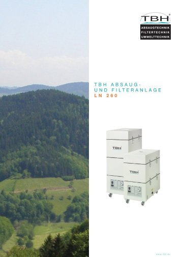 TBH ABSAUG- UND FILTERANLAGE LN 260 - F. Huhn & Sohn GmbH