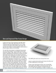 New and Improved Filter Frame Design - James P. Sheldon Co., Inc