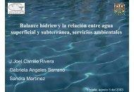 Balance hídrico y la relación entre agua superficial y subterránea ...