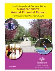 Comprehensive Annual Report 1-11.indd - South Suburban Parks ...