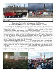 Report on Steelworker Attendance at the Minero's National Forum ...