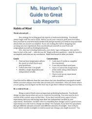 Lab Report Guide - WhippleHill