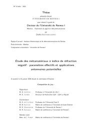 Thèse Étude des métamatériaux à indice de réfraction négatif ... - IETR