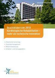 Qualitätsbericht 2010 Kardiologische Rehabilitation – mehr als ...