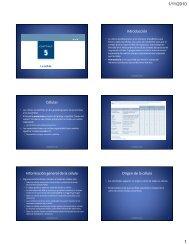 Introducción Células Información general de la célula Origen de la ...