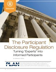 The Participant Disclosure Regulation - Groom Law Group