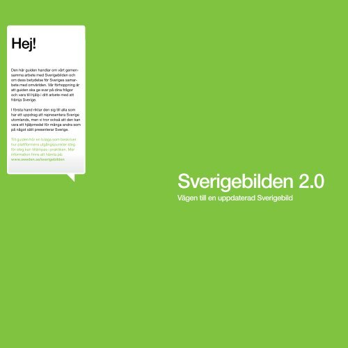 Sverigebilden 2.0 - Svenska institutet