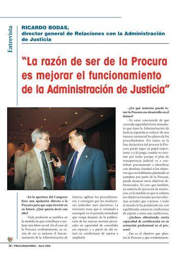 Entrevista - Consejo General de Procuradores