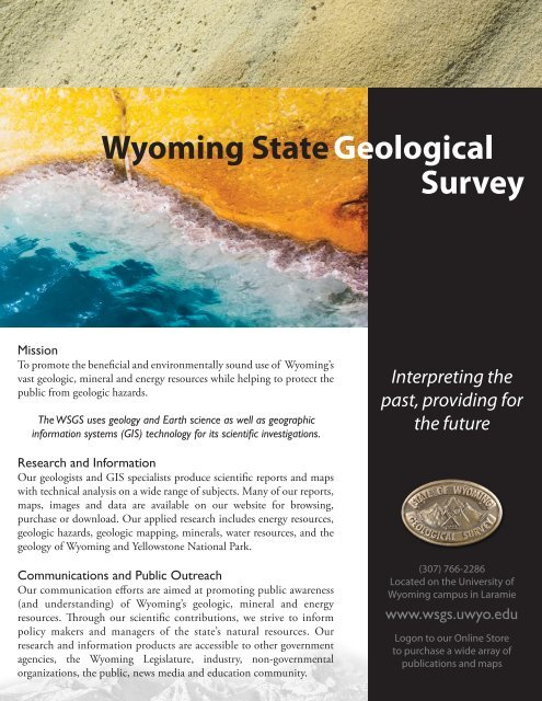WSGS - Wyoming State Geological Survey - University of Wyoming
