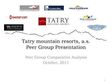 Tatry mountain resorts, a.s. Peer Group Presentation