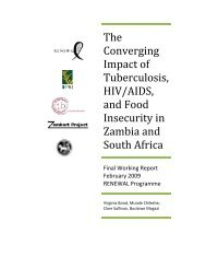 The Converging Impact of Tuberculosis, HIV/AIDS, and Food - IFPRI ...