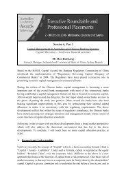 Capital Allocation – for diverse financial activities - Australian APEC ...