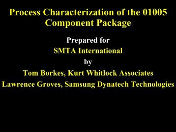 Process Characterization of the 01005 Component Package - SMTA