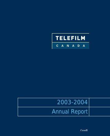 2003-2004 Annual Report - Telefilm Canada