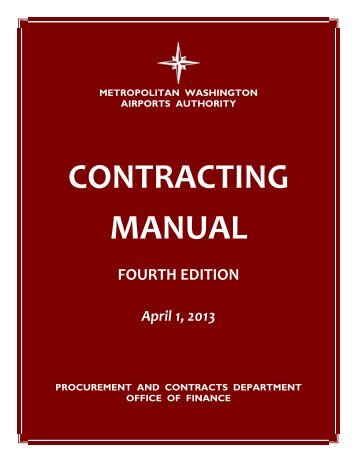 contracting manual - Metropolitan Washington Airports Authority