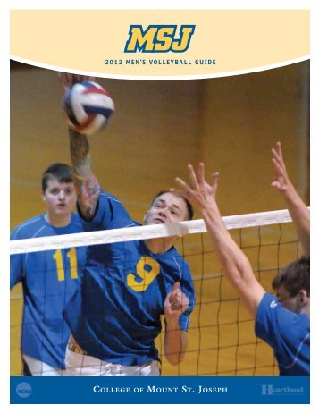 2012 MEN'S vollEyball GuidE - MSJ Lions Athletics