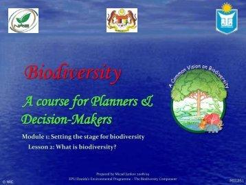 What is biodiversity? - NRE