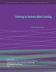 Listening to Students About Learning - Washington State Board for ...