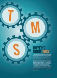Inbound Logistics | TMS Buyer's Guide 2013 | Digital Edition