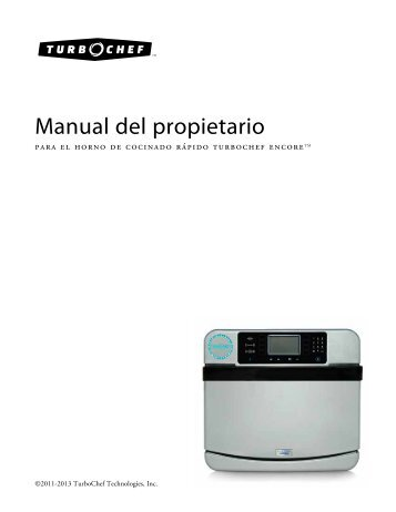 Manual del propietario - Turbochef
