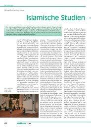 Islamische Studien – - Religion Uni Bayreuth