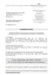 KUNDMACHUNG - Klagenfurt