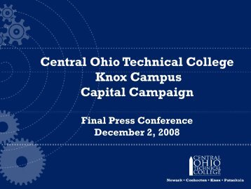 Central Ohio Technical College Knox Campus Capital Campaign