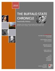 THE BUFFALO STATE CHRONICLE - People Inc