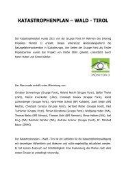 KATASTROPHENPLAN – WALD - TIROL - monitor ii