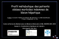 Profil métabolique des patients obèses morbides indemnes de ... - Afef