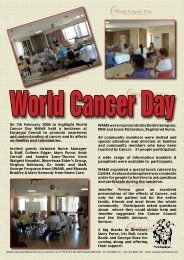On 7th February 2006 to highlight World Cancer Day WAMS held a ...