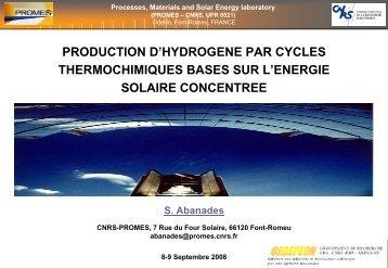 Cycles alternatifs basés sur l'énergie solaire