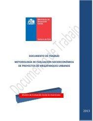 documento de trabajo metodología de evaluación socioeconómica ...